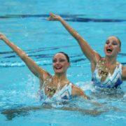 Great swimmers Anastasia Davydova and Anastasia Ermakova
