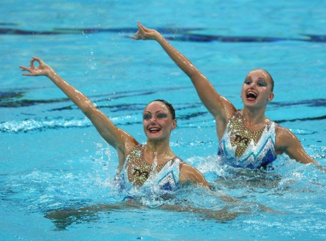 Great swimmers Anastasia Davydova and Anastasia Ermakova