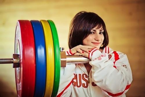 Svetlana Tsarukayeva Russian weightlifter