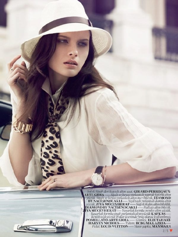 Elena Melnik, fashion model