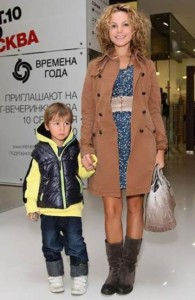 Masha Tsigal and her son