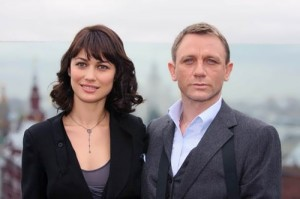 Kurylenko and Daniel Craig