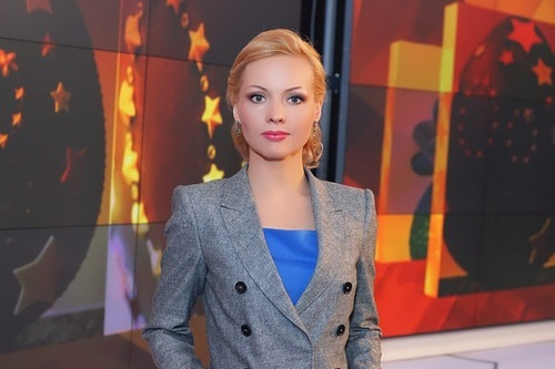 Irina Sashina news presenter