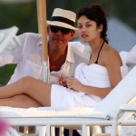 Kurylenko and Danny Huston on Miami Beach