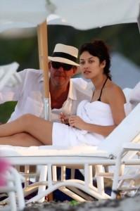 Kurylenko and Danny Huston on Miami Beach