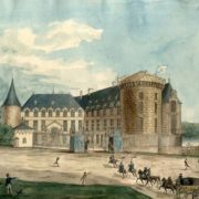 Rambouillet Castle. France. From the album with travel sketches by Z.A. Volkonskaya