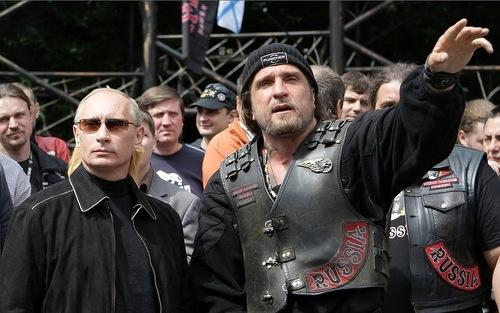 Vladimir Putin and Aleksandr Zaldostanov