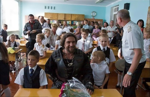 Zaldostanov and school children