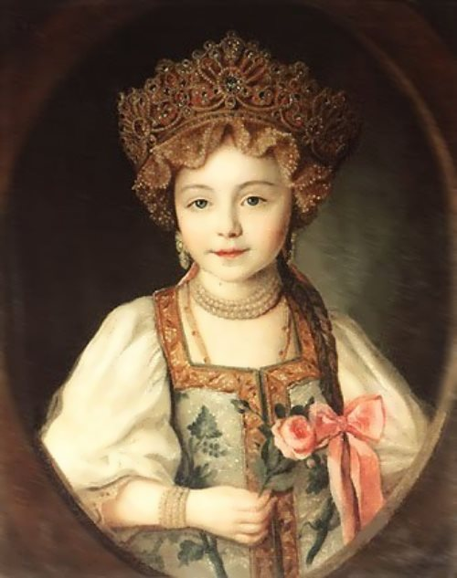 Grand Duchess Alexandra Pavlovna in Russian Costume