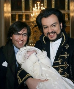 Filipp Kirkorov with the daughter and Malakhov