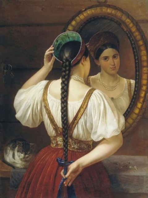Budkin Philip. Girl in front the mirror