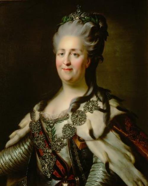 Catherine II of Russia by Johann Baptist von Lampi the Elder