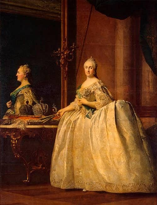 Erichsen Virgilius. Portrait of Catherine II in front of a Mirror