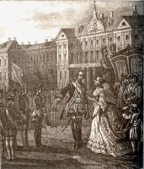 B. Chorikov. Anna Ioanovna and Ernst Johann Biron