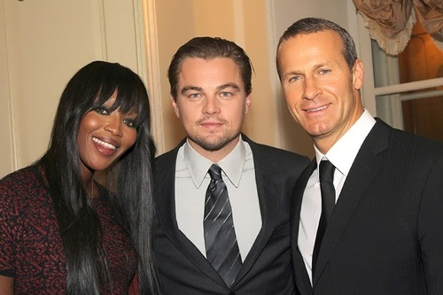 Campbell, Leo DiCaprio and Doronin