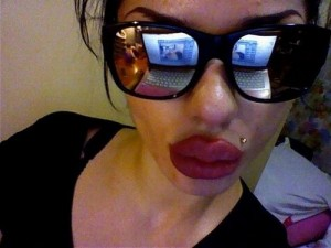 Kristina – girl with huge lips
