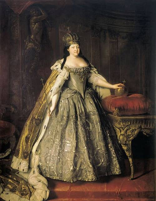 Louis Caravaque. Portrait of Empress Anna Ioannovna