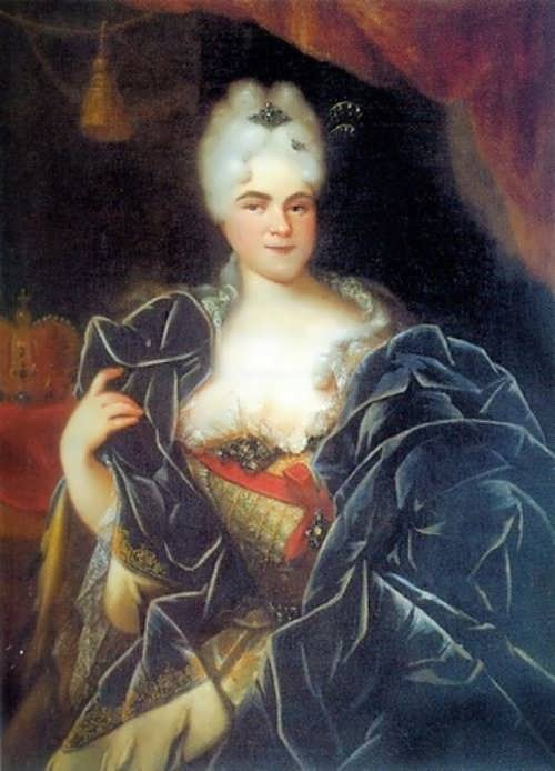 Ivan Nikitin. Portrait of Empress Catherine I. 1717