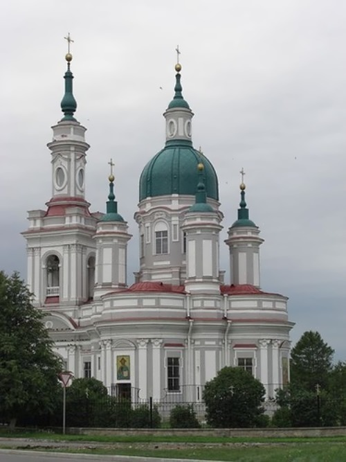 St. Catherine Cathedral in Kingisepp, an example of Late Baroque architecture Kingsobor