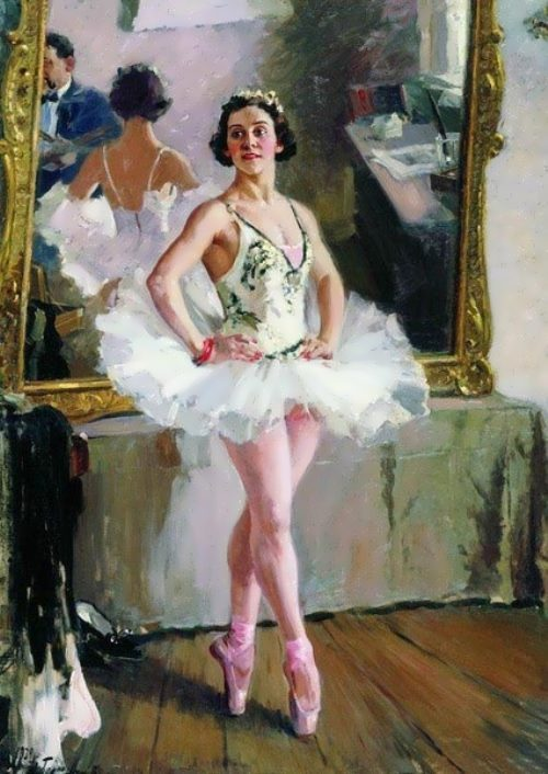 Portrait of ballerina Lepeshinskaya