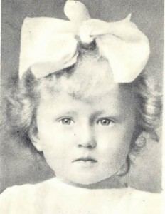 Ulanova in her childhood