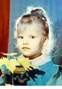 Olesya Malibu in her chidhood