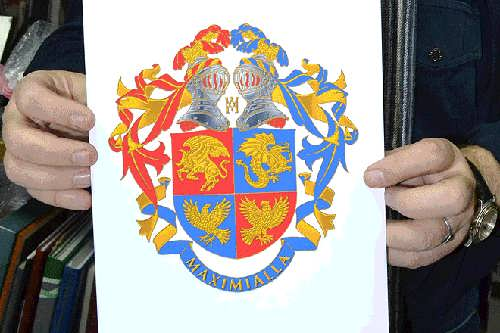 Pugacheva and Galkin Coat of Arms