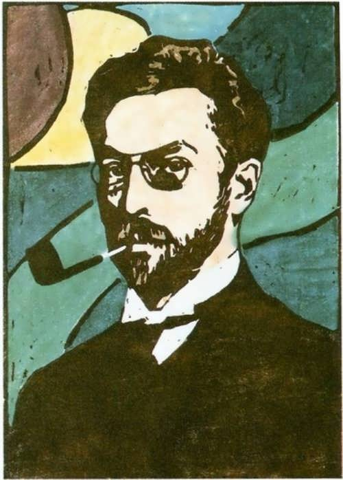 Gabriel Munter. Portrait of Kandinsky