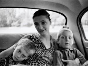 Lyudmila Abramova and sons