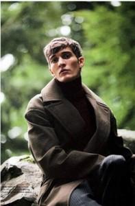 Cute male fashion model Matvey Lykov