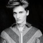 Attractive male fashion model Matvey Lykov