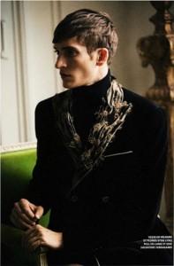 Interesting fashion model Matvey Lykov