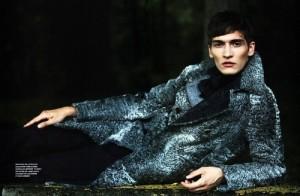 Handsome fashion model Matvey Lykov