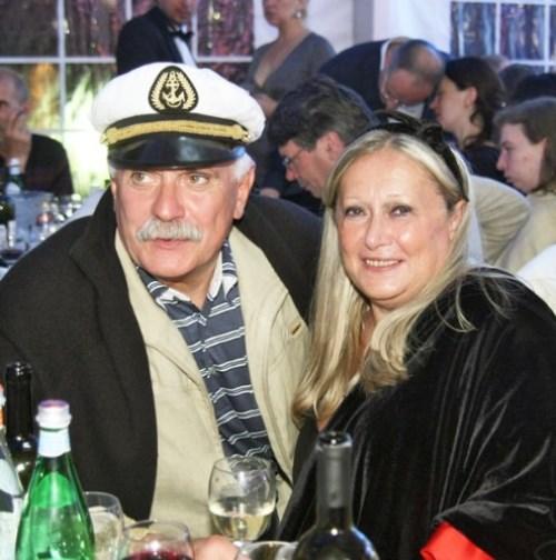 Nikita Mikhalkov and his wife Tatiana