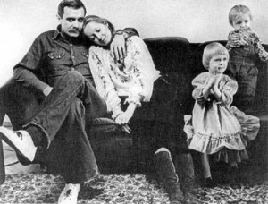 Tatiana, her husband and children