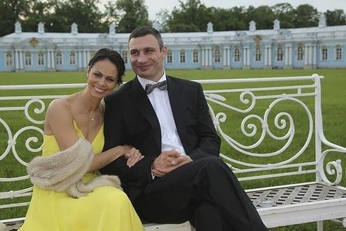 Vitaliy Klitschko and Natalia Egorova