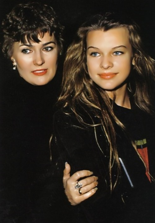 Galina Loginova and Milla Jovovich