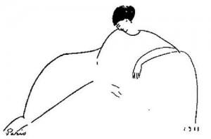 Famous Akhmatova by Modigliani