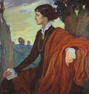 Incredible Akhmatova by Olga Kardovskaya, 1914