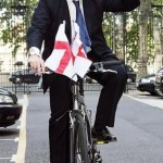 Boris Johnson likes to ride a bike