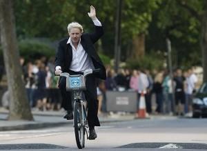 Mayor of London likes to ride a bike