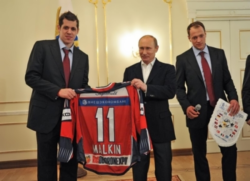 Malkin and Vladimir Putin