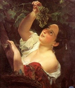bryullov Girl Picking Grapes