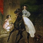 bryullov Lady on Horseback. 1832