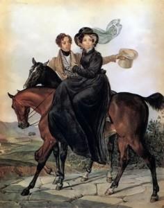 bryullov Portrait of K.A. and M. Ya. Naryshkin