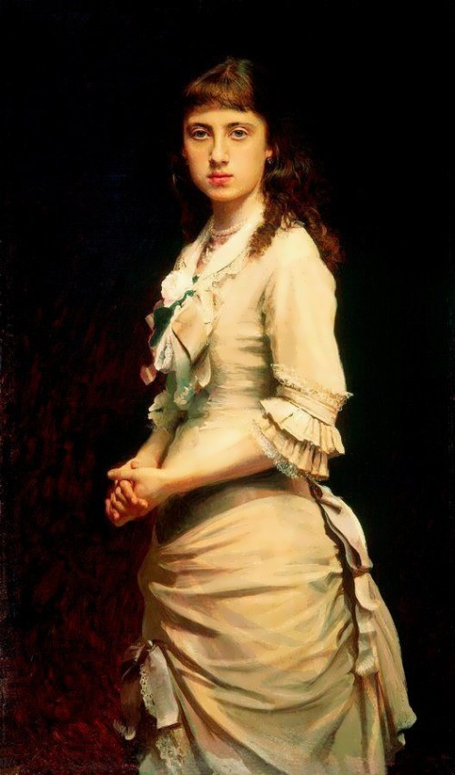 Portrait of Sophia Kramskaya, the artist's daughter. 1882
