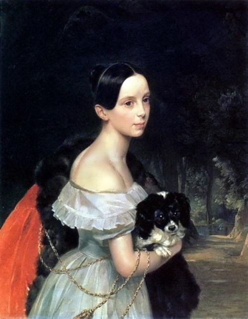 bryullov Portrait of U. M. Smirnova