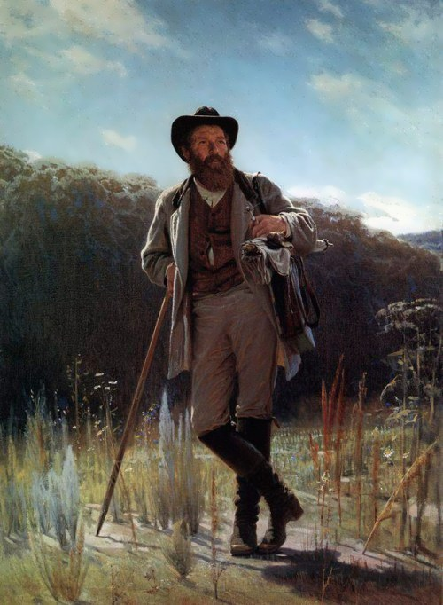 Portrait of the artist Ivan Shishkin. 1873