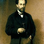 Portrait of the artist Mikhail Klodt. 1872