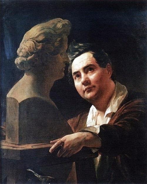 bryullov Portrait of the sculptor Ivan Vitali
